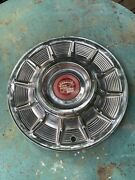 One 1957 Cadillac Hubcap Unmolested Almost Show Quality Hubcap And Emblem.