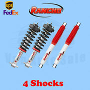 Rancho Kit 4 Front And Rear Strut Rs5000x Shocks For 07-18 Sierra 1500