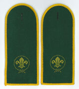 Scouts Of Israel - Boy And Girl Scout Epaulettes Patch Pair