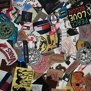 Huge Lot Of Rare Mix Clothing Labels Patches Embroidery Surprise Craft Free Ship