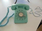 Vintage Western Electric Bell System 1960and039s Aqua Rotary Desk Top Telephone 500