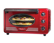 12-slice Red Convection Toaster Oven Large Capacity Adjustable Temperature|1495