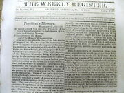 1813 Newspaper Russia Offers To Mediate An End To The War Of 1812 James Madison