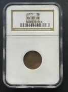 1876 Indian Head 1 Cent Coin Ngc Ms-65 Brown High Grade Coin