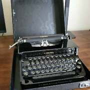 1933 Smith Corona Standard Typewriter In Black With Case, Good-excellent, Manual