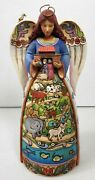 Jim Shore Two By Two God Loves All Of You - 9in. Noah's Ark Angel Figure/statue