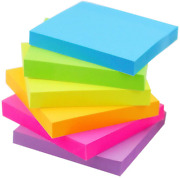 Early Buy Sticky Notes 6 Bright Color 12 Pads Self-stick Notes 3 In X 3 In 100