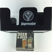 Jagermeister Bar Caddy Napkin Straw Swizzle Stick Holder With Coasters Hg33