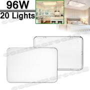 20x 96w Led Ceiling Light Warm White Indoor Ultra Thin Flush Mount Home Fixtures