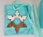And Co American Walnut Sterling Silver Christmas Snowflake Ornament -84246