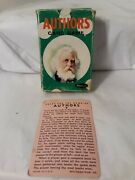 Vtg 1950's Authors Card Game Whitman No. 4110 Deck Of 44 Cards