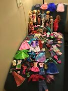 Andnbspvintage To Now Mattel Barbie Collection 14 Dolls Clothes Kenand039s Too 166 Pieces