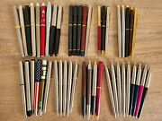 Authentic Parker Fountain And Ballpoint Pens - Lot Of 46 - Sonnet Insignia Rialto