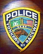 Gemsco Nos Vintage Collectible Patch Police Raceway - Yonkers Ny - Original 30+