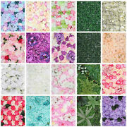Artificial Flower Wall Panel Backdrop Silk Roses Wedding Decoration Bridal Party