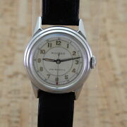 Movado Ss Manual Winding 15 Jewels Original Dial Antique 1940s Cal470 Watch