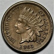 1863 Indian Head Cent Us 1c Penny Coin Flat Rate Shipping Lot 219