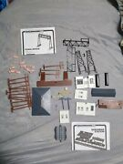 Bachman Ho Scale Single Bridge, Suburban Station, Power Poles And People Pre-owned
