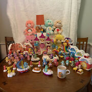 Large 67 Pc, Lot Of Vintage, Used Care Bear Toys, Figures And Plush 1983-2007