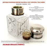 Imperial Russian Antique Large Tea Caddy/ 84 Silver Moscow Russia 1871