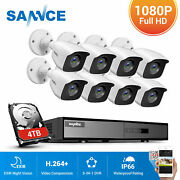 Sannce 5in1 8ch Dvr 1080p Security Camera System Cctv Exir Outdoor Remote Access