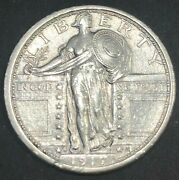 United States 1917-s Standing Liberty Silver Quarter Type 1