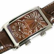 Cuervo Y Sobrinos Prominente Dual Tie 1112-1tg Automatic Chronograph Menand039s Watch