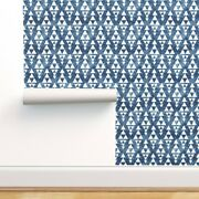 Removable Water-activated Wallpaper Tribal Triangle Native Peace Tie Dye Effect