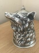 Magnificent Vintage Russian Silver Novelty Fox Headed Stirrup Cup