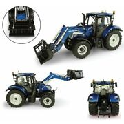 Scale Model Compatible With New Holland T6.175+ 770tl Front Loader Caricat.fron
