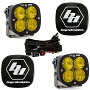 Baja Designs® Xl80™ Led Light Pods Pair Amber Driving/combo And Rock Guards Kit