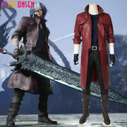 Cosonsen Devil May Cry 5 Dante Costume Cosplay Halloween Men Outfits Full Set