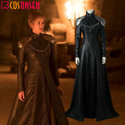 Game Of Thrones Season 7 Queen Cersei Lannister Cosplay Costume Dress Full Set