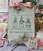 Shabby Chic Vintage French Country Cottage Style Wall Decor Sign French Perfume