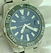 Tag Heuer Aquaracer Caliber 5 Black Dial Stainless Steel Automatic Watch