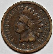 1894 Indian Head Cent  Us 1c Penny Coin  Flat Rate Shipping Lot 219