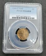 1909-s Vdb Lincoln Wheat Cent | Pcgs Ms64rb | Beautiful Key Date Coin