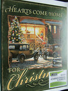 Lang Boxed Christmas Cards Coming Home Set Of 18 New Gold Foil