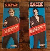 1965 The Man From Uncle Orig. Gilbert Illya And Napoleon Figures In The Boxes