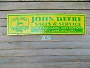 Personalized Early Style John Deere Implement Dealer Sign/ 1and039x46 Alum/w Logo.