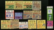1948-1973 Chicago Bears Ticket Stubs Full Complete Ticket Green Bay Packers 14