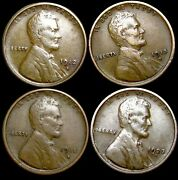 1912-s 1915-d 1915-s 1923-s Lincoln Cent Wheat Penny  ---- Nice Lot ---- P037