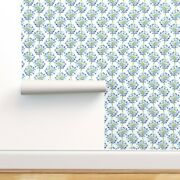 Wallpaper Roll Floral Wedding Agapanthus Watercolor Blue Summer 24in X 27ft
