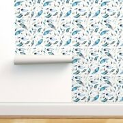 Wallpaper Roll Nursery Feathers Blue Pink Floral Boho Baby Boy Girl 24in X 27ft