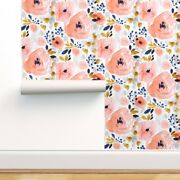 Wallpaper Roll Watercolor Floral Flowers Pink Blue Blush Girly 24in X 27ft