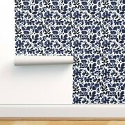 Wallpaper Roll Blue Floral 24in X 27ft