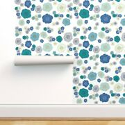 Wallpaper Roll Blue Roses Floral Baby Rose Pattern Girl Flowers 24in X 27ft