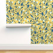 Wallpaper Roll Imagination Floral Blue Yellow Modern Home Creative 24in X 27ft