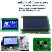 12864 128x64 Dots Graphic Blue Color Backlight Lcd Display Module For Arduino U4