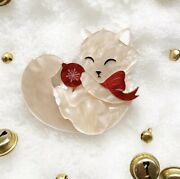 Deer Arrow Charlie The Christmas Kitty Brooch. Bnib. Limited Edition. Sold Out